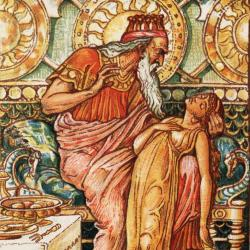 King Midas holds his golden daughter